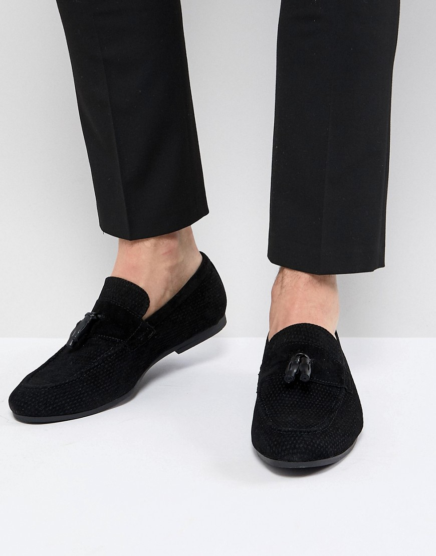 Fashion Shop - Burton Menswear Tassel Loafer In Black - Black