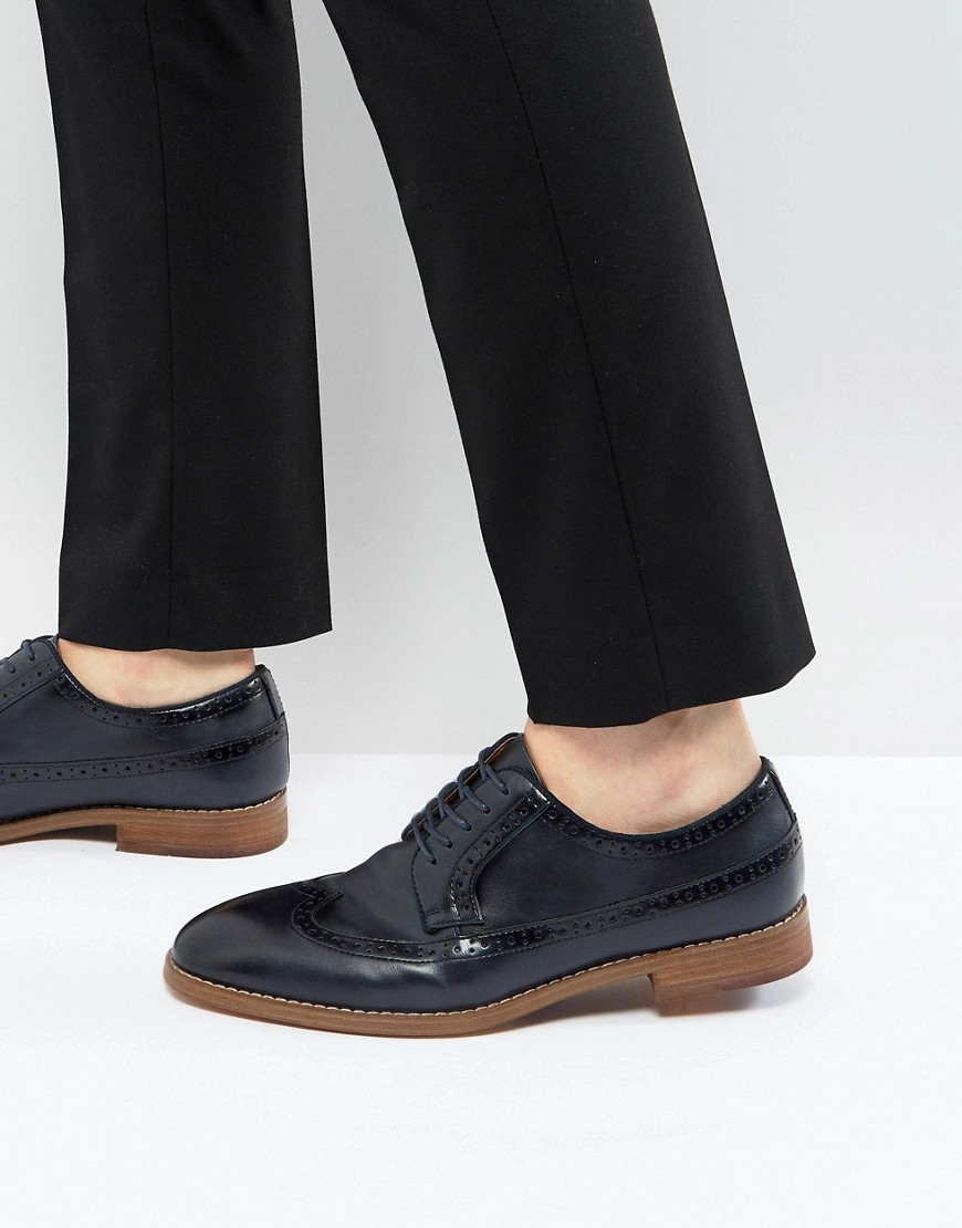 Fashion Shop - Call It Spring Uniessi Brogue Shoes In Navy - Navy