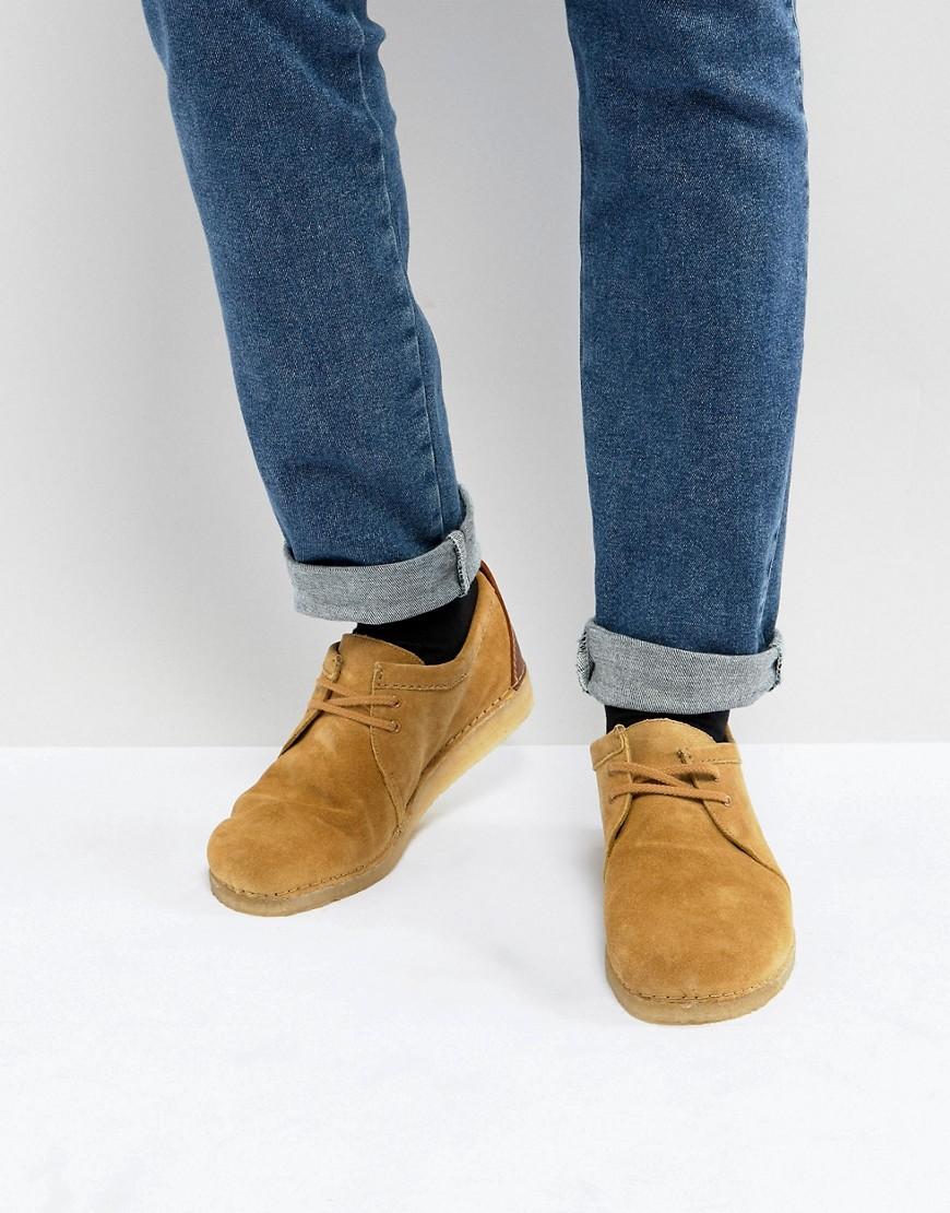 Fashion Shop - Clarks Originals Ashton Suede Desert Shoes - Beige
