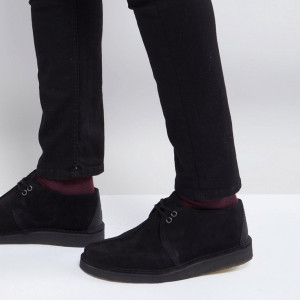 Fashion Shop - Clarks Originals Desert Trek Shoes In Black Suede - Black
