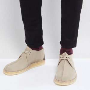 Fashion Shop - Clarks Originals Desert Trek Suede Shoes In Stone - Stone