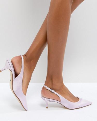 Fashion Shop - Dune London Bridal Exclusive Cassandra Kitten Heel Sling Back Shoe in Lavendar - Purple