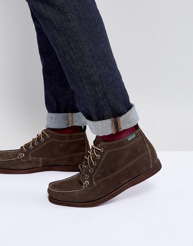 Fashion Shop - Eastland Seneca Suede Boots In Dark Olive - Brown