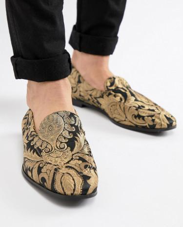 Fashion Shop - KG By Kurt Geiger Brocade Loafers - Black