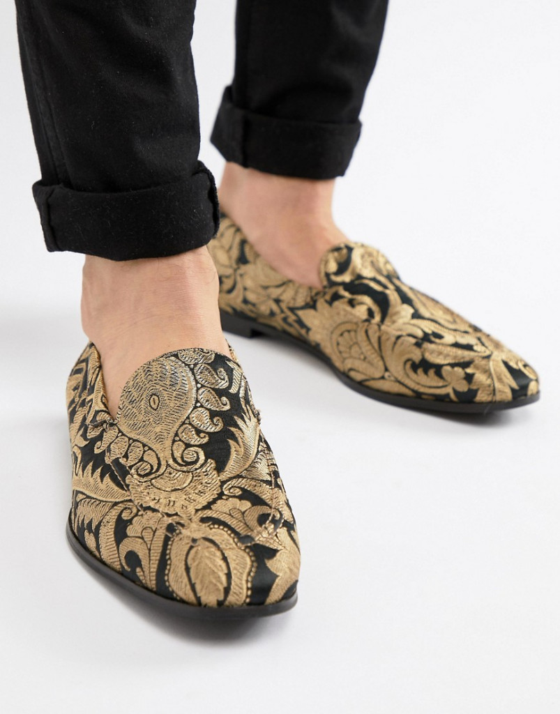 Fashion Shop - KG By Kurt Geiger Brocade Loafers - Black