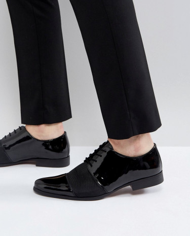 Fashion Shop - KG By Kurt Geiger Patent Lace Up Shoes - Black