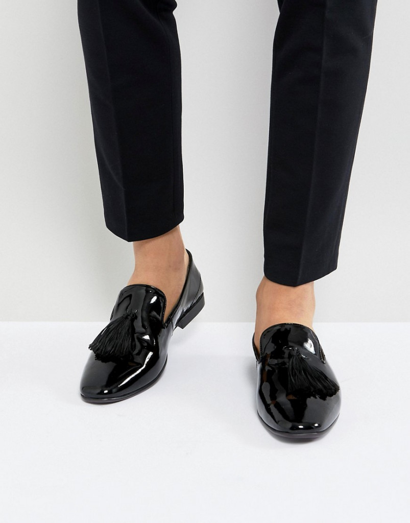 Fashion Shop - Kg By Kurt Geiger Patent Tassel Loafers - Black