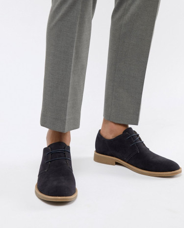 Fashion Shop - New Look faux suede desert shoes in navy - Navy