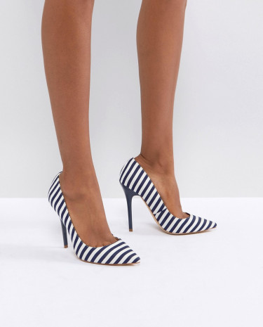 Fashion Shop - Office On Tops Striped Court Shoes - Multi