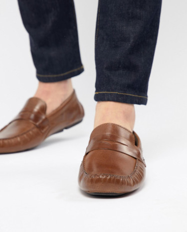 Fashion Shop - Red Tape Driving Shoes In Tan - Tan