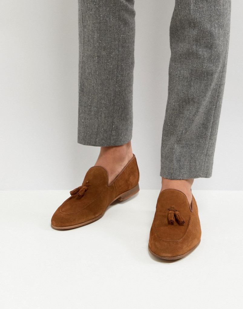 Fashion Shop - River Island Suede Loafers With Tassels In Tan - Tan
