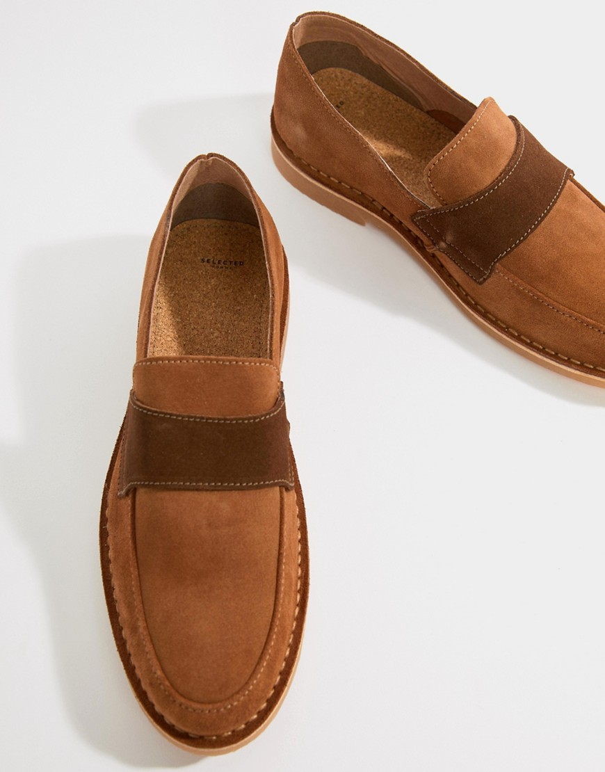 Fashion Shop - Selected Homme Desert Loafer - Tan