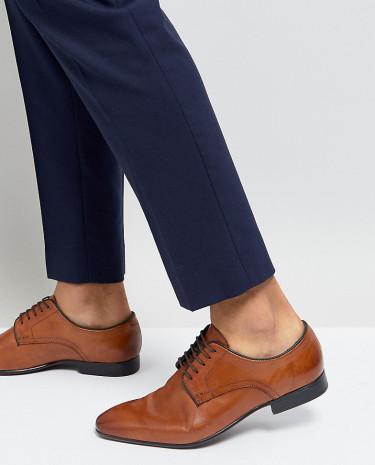 Fashion Shop - Silver Street Wide Fit Smart Shoes Tan - Tan