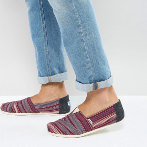 Fashion Shop - TOMS Classic Alpargata Espadrilles In Red - Red