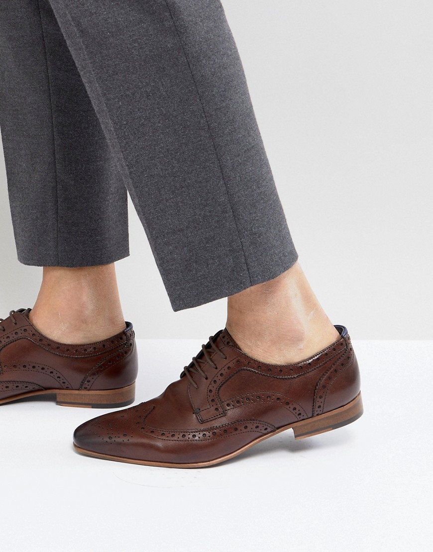 Fashion Shop - Walk London City Brogue Shoes In Brown - Brown