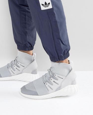 Fashion Shop - adidas Originals Tubular Doom Winter Sneakers In Grey BY8701 - Grey