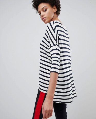 Fashion Shop - Stradivarius Lightweight Oversized Stripe Top - Multi