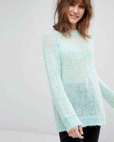 Fashion Shop - ASOS DESIGN oversized jumper in fluffy yarn - Green