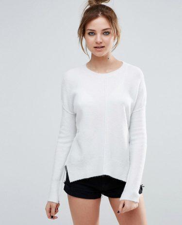 Fashion Shop - John & Jenn Cicely Zig Zag Hem Jumper - White