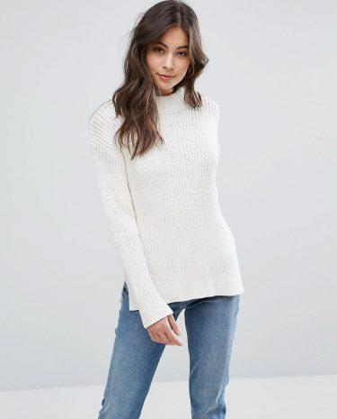 Fashion Shop - YMC Rib Knit Jumper - White
