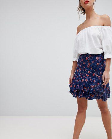 Fashion Shop - Esprit All Over Floral Print Mini Skirt - Multi