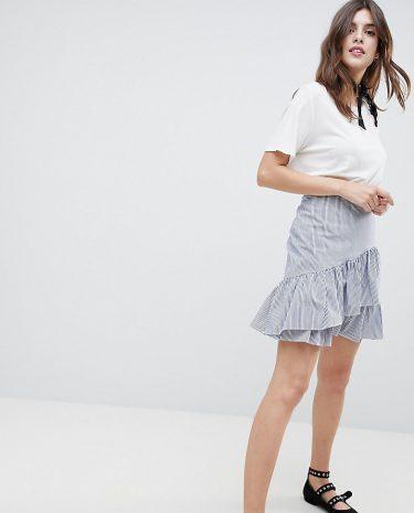 Fashion Shop - Esprit Stripe And Flippy Skirt - Multi