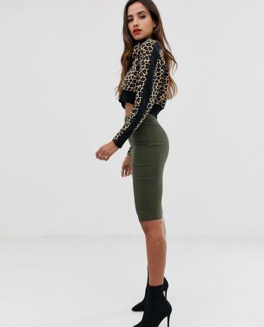 Fashion Shop - ASOS DESIGN high waisted pencil skirt - Green
