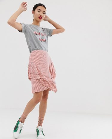 Fashion Shop - Custommade Catja stripy skirt - Multi