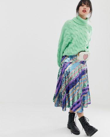 Fashion Shop - Essentiel Antwerp Salute skirt - Multi