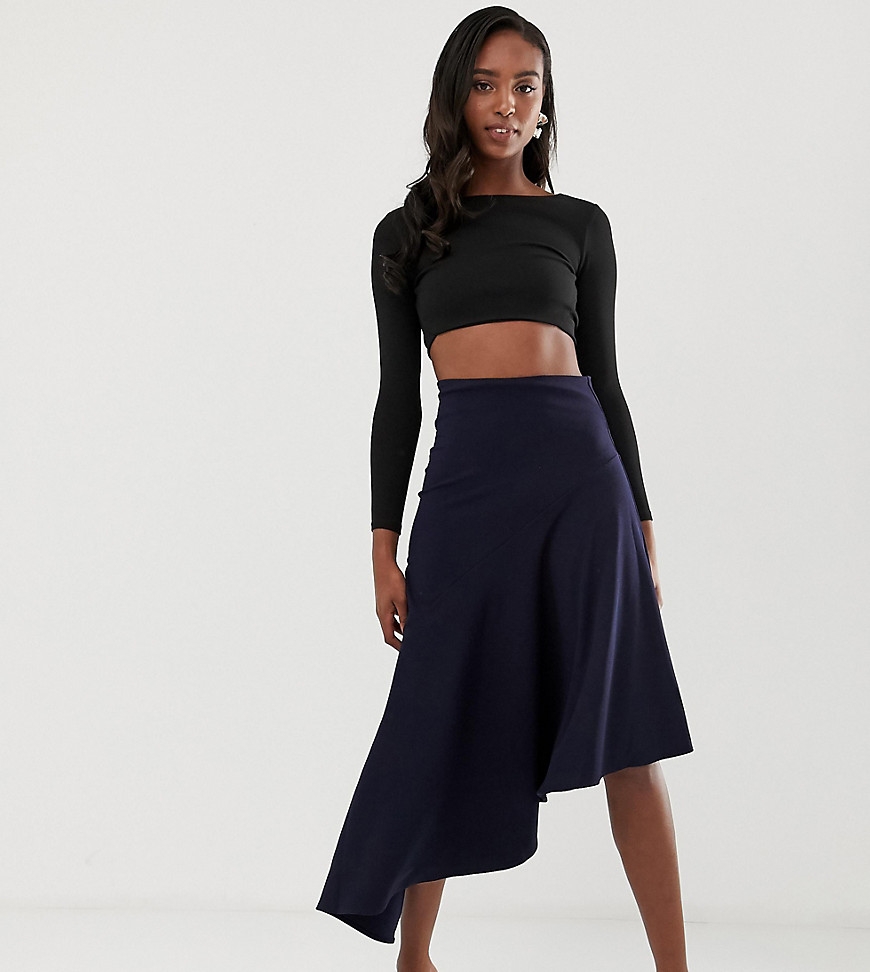 Fashion Shop - John Zack Tall Asymmetric skirt in blue - Blue