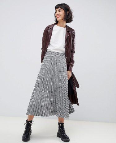 Fashion Shop - Max & Co gingham pleated midi skirt - Multi