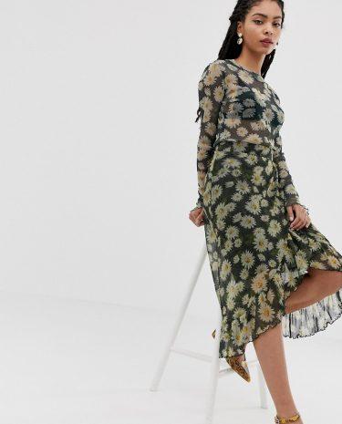 Fashion Shop - Moves By Minimum floral midi skirt - Multi