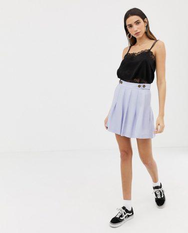 Fashion Shop - The East Order Inka pleat mini skirt - Blue