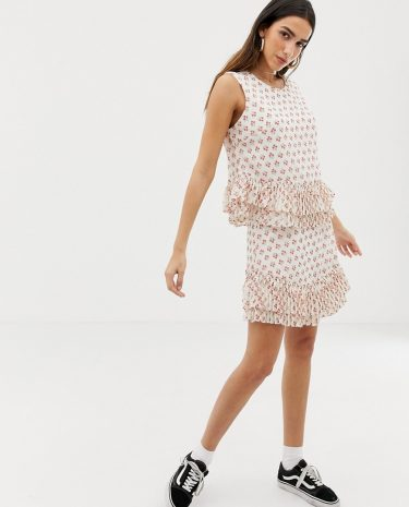 Fashion Shop - The East Order Oli ruffle mini skirt - Multi