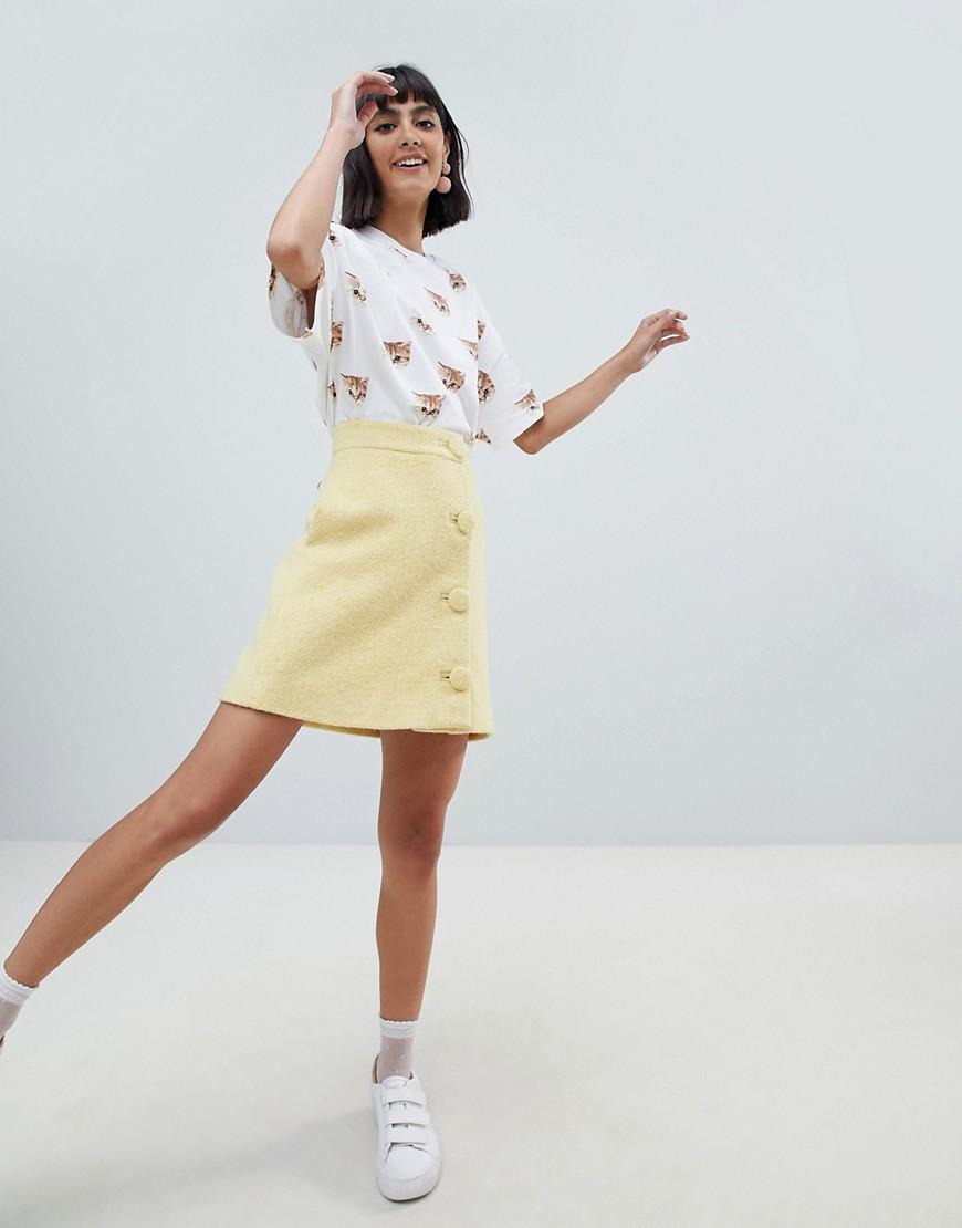 Fashion Shop - Paul & Joe Sister 60's wool mini skirt - Yellow