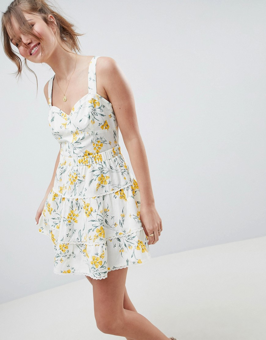 Fashion Shop - ASOS DESIGN tiered mini skirt co-ord in floral print - Multi