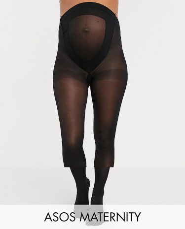 Fashion Shop - ASOS DESIGN Maternity 2 pack 50 denier black tights in new improved fit