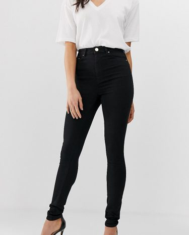Fashion Shop - ASOS DESIGN Tall Ridley high waisted skinny jeans in clean black