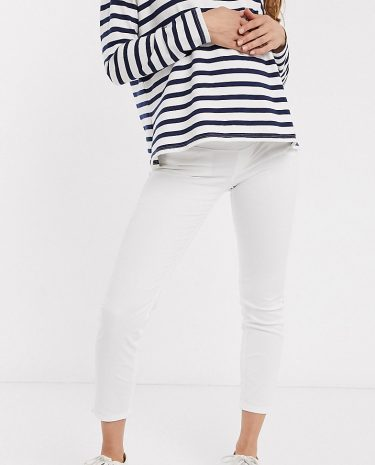 Fashion Shop - GeBe Maternity supersoft skinny jeans-White