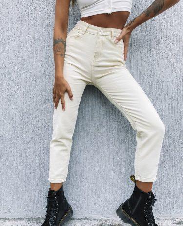 Fashion Shop - Blank Space Denim Jeans Beige - XS