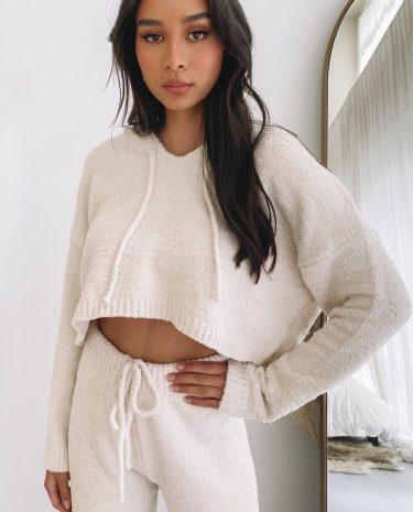 Fashion Shop - Sakura Hoodie Cream - M