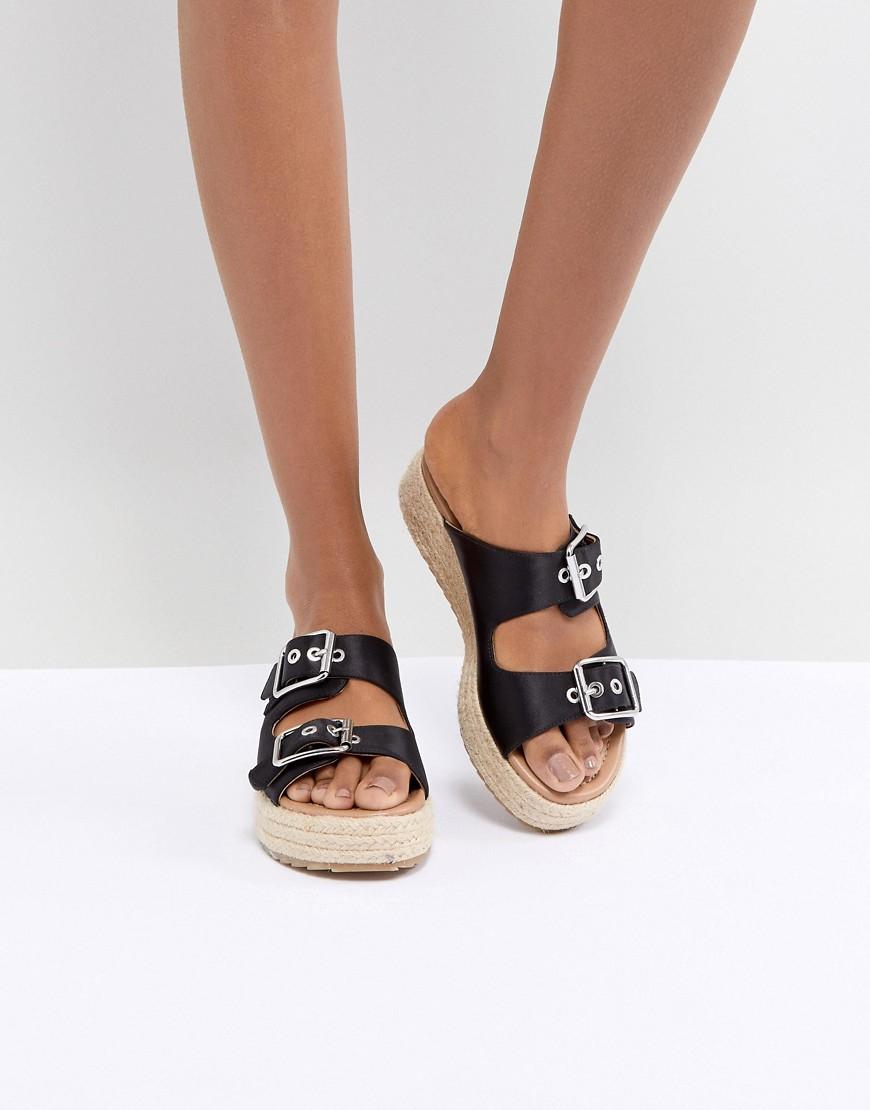 Fashion Shop - ASOS DESIGN Jacques Premium Espadrille Sandals-Black