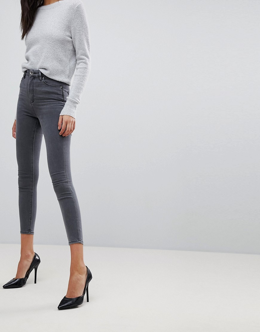 Fashion Shop - ASOS DESIGN Ridley high waisted skinny jeans in grey