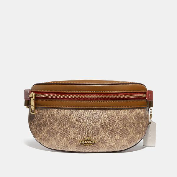 Fashion Shop - Coach Bethany Belt Bag In Colorblock Signature Canvas