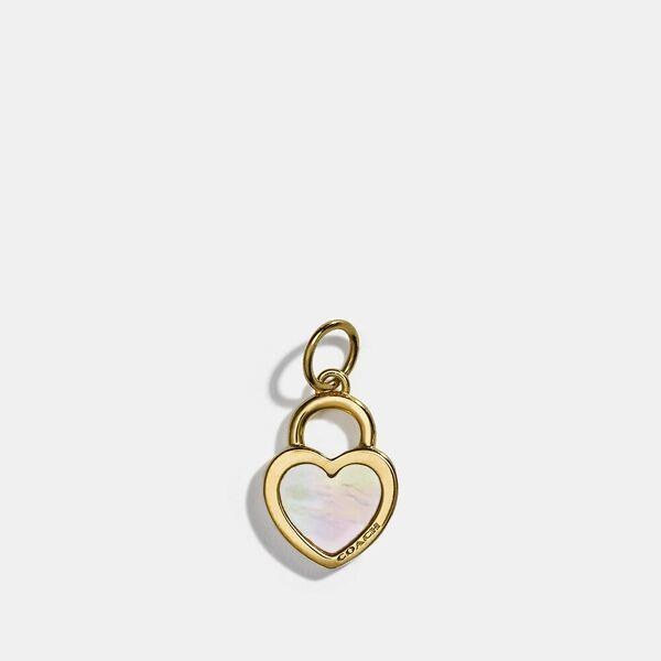 Fashion Shop - Coach Collectible Pearl Heart Charm
