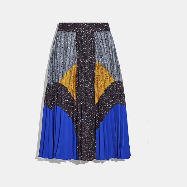 Fashion Shop - Coach Mix Pleated Skirt